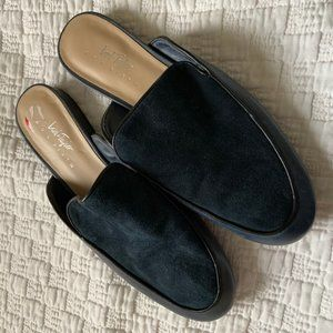 Lord & Taylor Gigi navy mule loafers size 8.5